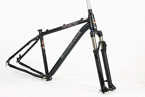 Motobecane Fantom 29er Frame and Fork Rock Shox Recon TK Silver Hardtail Mountain Bike Frame (Matt Black, 13 inch)