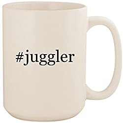 #juggler - White Hashtag 15oz Ceramic Coffee Mug Cup
