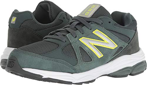 New Balance Boys' 888v1 Running Shoe, Faded Rosin/Limeade, 7 M US Big - Wide New Shoes Boys Balance