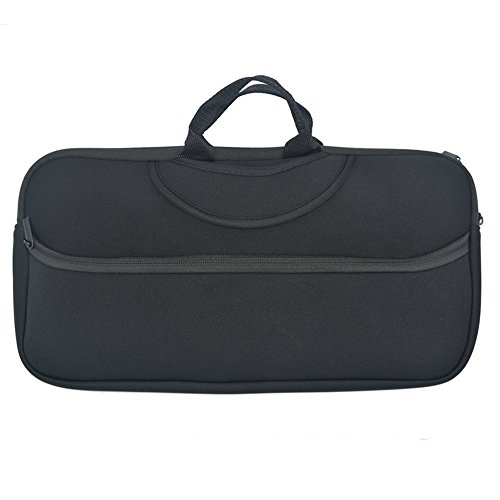 Orchidtent Black Color Soft Neoprene Sleeve Carrying Travel Case for Canon PIXMA iP110 and Canon PIXMA iP100 Portable Printer/Mobile Photo Pinter and Power Adapter & Cable apter & Cable