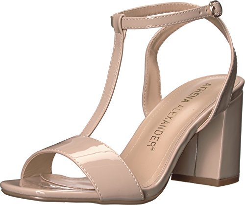 Athena Alexander Womens Ditaa Nude Patent Sandal IuJmN
