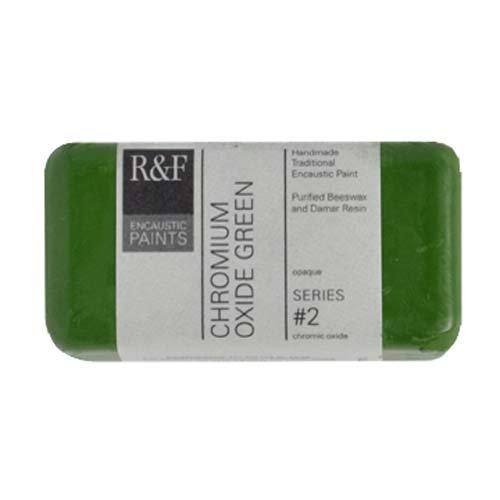 R&F Encaustic 40ml Paint, Chrome Oxide - Chrome Oxide Green