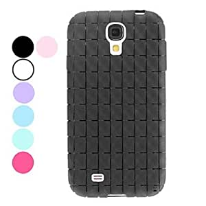 Nsaneoo - Grid Pattern TPU Soft Case for Samsung Galaxy S4 I9500 (Assorted Colors) , Purple