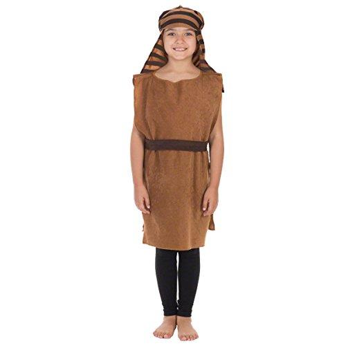 (Charlie Crow Christmas Shepherd Nativity Costume for Kids 3-8 Years | Brown &)