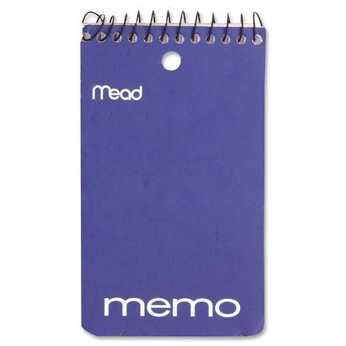 Mead Memo Book Spiral 3 In. X 5 In. pack of 24 by Mead