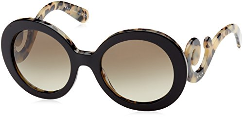Prada Women's Round Sunglasses, Havana/Brown, One - Prada Glasses Women