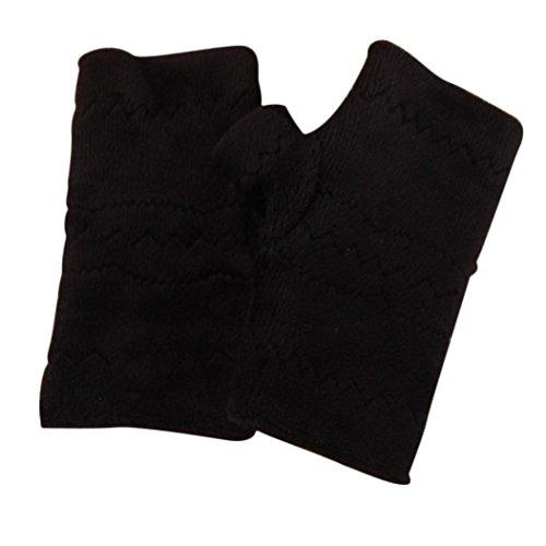 Winter Autumn Thick Warm Gloves Keyboard Leak Finger Gloves Gray - 1