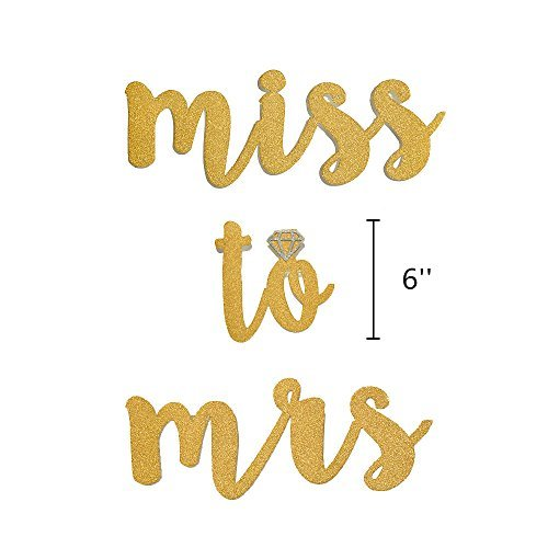 Miss to Mrs Banner Tassel Dot Garland Kit for Bridal Shower Decoration Bachelorette Party Supplies Gold Glitter Brown White