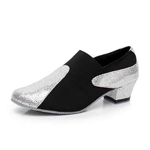 Pompes De Danse De Salon Bcln Womens Chaussures De Soirée Avec 1,6 Talon  Noir be9bb014265c