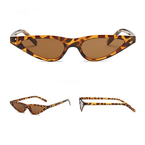 de Sunenjoy Cat Lunettes Rétro UV400 Lunettes Eye Cat Eye Triangle Vintage Conducteur de Unisexe Soleil Femme Café Pour Lunettes Soleil Conduite ArtrB