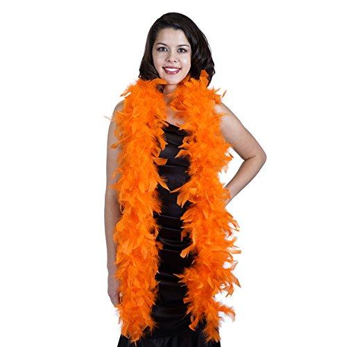 ZUCKER Medium Weight Chandelle Feather boa Solid Colors - Orange -