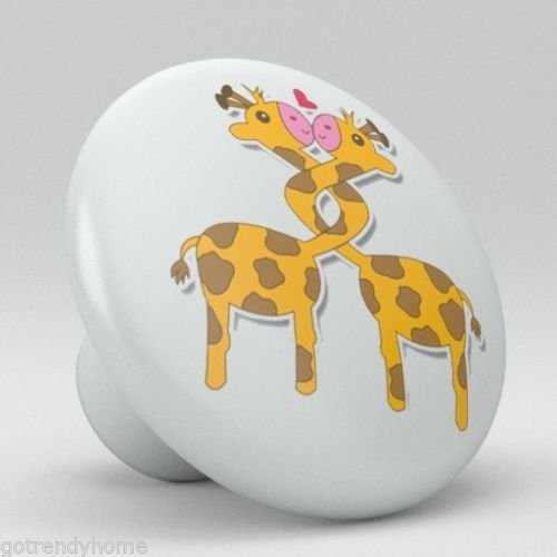 Cute Giraffe Ceramic Knobs Nursery Pulls Kitchen Drawer Dresser Cabinet 1031 by gotrendyhome