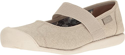 Keen Leather Mary Janes (KEEN Women's Sienna MJ Canvas Hiking Shoe, Feather Grey, 8 M US)