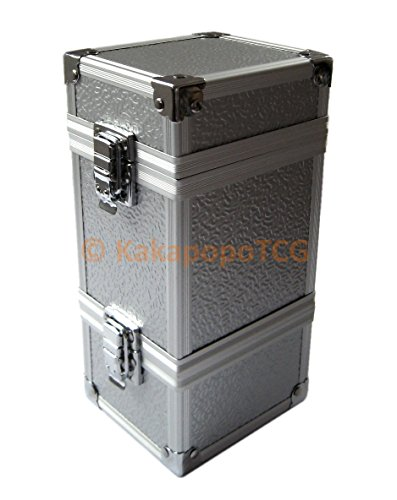 - KM-T01 Monolith Silver Stackable Metal Double Deck Box or Dice Box Storage Trading Cards TCG Ultra Pro Sleeve MTG Magic the Gathering Pokemon YGO Yugioh EDH Dice Star Wars Vanguard