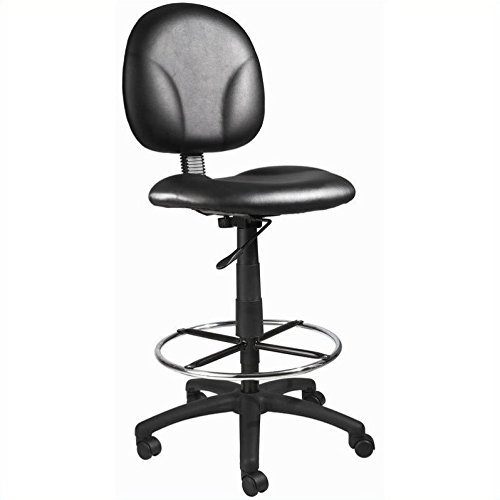 Boss Office Products B1690-CS Stand Up Caressoft Drafting Stool without Arms in Black