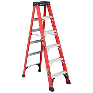 Louisville Ladder FS1406HD 375-Pound Duty Rating Fiberglass Step Ladder, 6-Feet