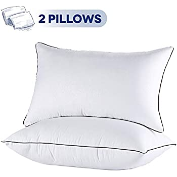 JOLLYVOGUE King Size Pillows for Sleeping-2 Pack Bed Pillow for Side and Back Sleeper Hotel Pillows Down Alternative Sleeping Pillows-18x35Inches