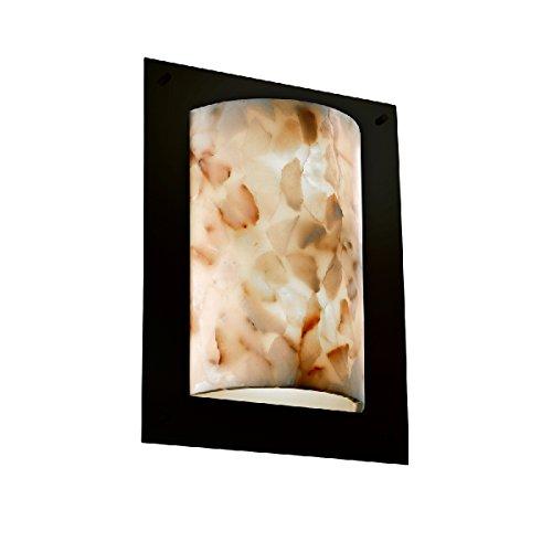 Justice Design Group Rectangular Sconce (Justice Design Group Lighting Alr-5563-Dbrz-LED2-2000 Framed Rectangle 4-Sided Wall Sconce Alabaster Rocks-LED, Dark Bronze)