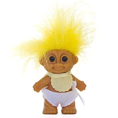 "My Lucky Mini 2.5"" BABY Troll Doll - Yellow Hair by Russ Berrie: Toys & Games [5Bkhe0305647]"