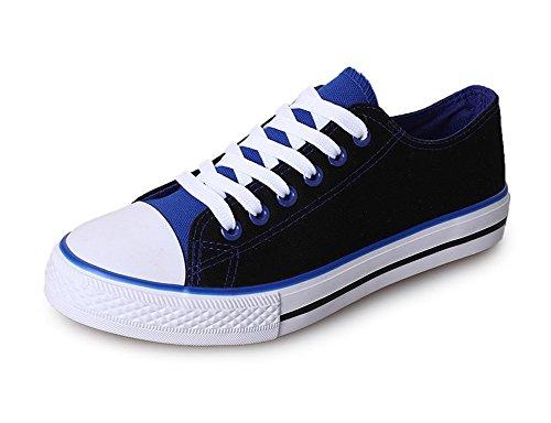 Chaussures De Sport Occasionnels Amint Chaussures De Sport Mode École Street Style Baskets Basses En Toile Baskets Chaussures Bleu-01