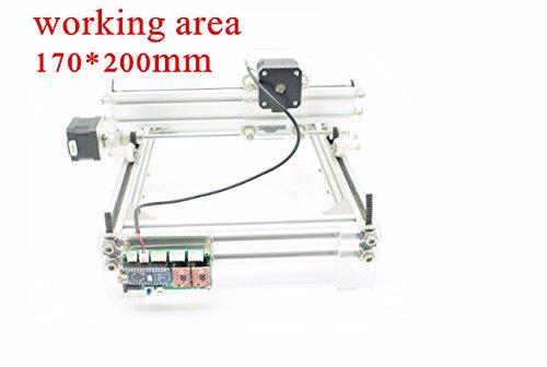 ELEOPTION DIY Laser Engraving machine Laser Engraver Laser Cutter For Wood Plastic Paper Bamboo 170X200MM Working Area (Laser Power- 2000MV) by Eleoption