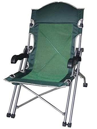 Gentil Amazon.com : Heavy Duty Captains Chair (Folding) : Folding Patio Chairs :  Garden U0026 Outdoor