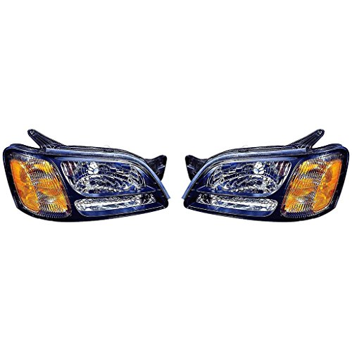 Fits Subaru Legacy/Outback 00-04/Baja 03-06 Headlight Assembly(Baja 03-06 Base/04-06 Turbo Model) Pair Driver and Passenger Side (NSF Certified)