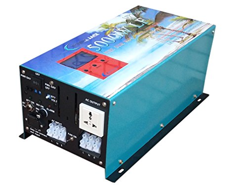 ATS 20000W Peak 5000W LF Pure Sine Wave Solar Power Inverter DC 24V to AC 110V, with 80A BC/UPS / LCD Display