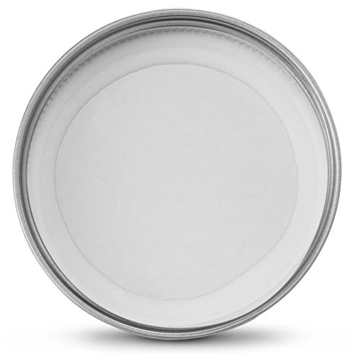 KooK Mason Jar Lids Regular Mouth, Leak Proof and Secure, Red, Gold, Silver, White, 16 pack (Silver) by KooK (Image #2)