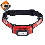 Milwaukee Electric Tools 2111-21 USB Rechargeable Headlamp Red - 3 Pack