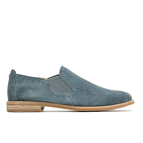 (Hush Puppies Chardon Slip-On Women 6.5 Storm Suede)