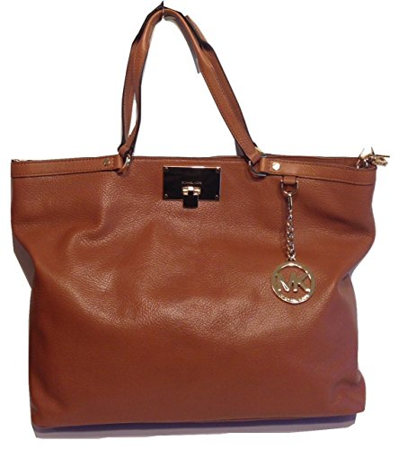 Michael Kors Channing Large Shoulder Tote Luggage (Louis Vuitton Lock)