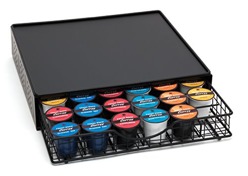 Lipper International 8662 Coffee Pod Storage Drawer with Stand, 36-Pod Capacity, Black by Lipper International (Image #1)