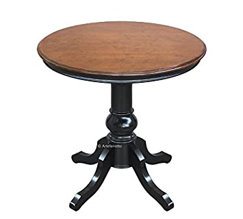 Table Ronde 80 Cm Pied Central.Arteferretto Table De The Ou De Salon Ronde Avec Pied