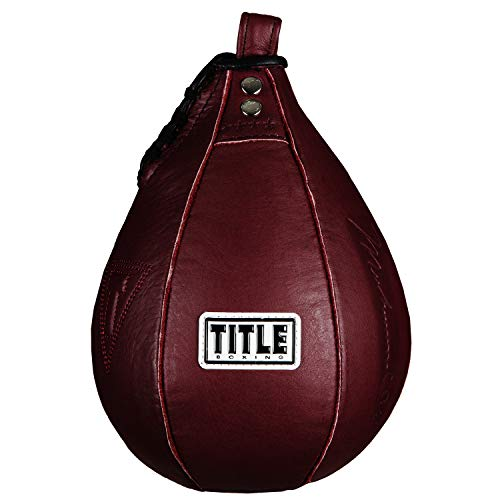 Title Boxing Ali Authentic Leather Speed Bag, Maroon, 5