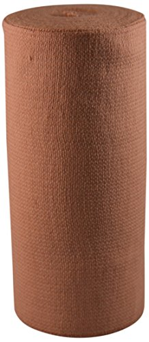 """Price comparison product image Ambra LeRoy 71610-C Supreme Orthopedic Grade Woven Elastic Bandage with Stretch Clips, Non-Sterile, Latex Free, 6"""" x 10 yd (Stretched), Beige (Pack of 50)"""