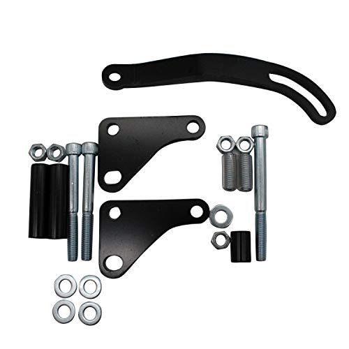 TAKPART Black Power Steering Pump Mounting Bracket 3129BK Compatible for SB Chevy (Chevy Power Steering Bracket)