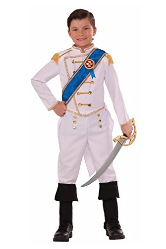 Forum Novelties Kids Happily Ever After Prince Costume, White, Large]()