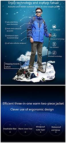 Chaud Trois en Polaire 6 D'extérieur Ski Casual un Coupe Couples Vestes Automne Hommes De Travail Jacket Sports Femmes Suit Vêtements Hiver vent Et 2xl BzSBwP0qY