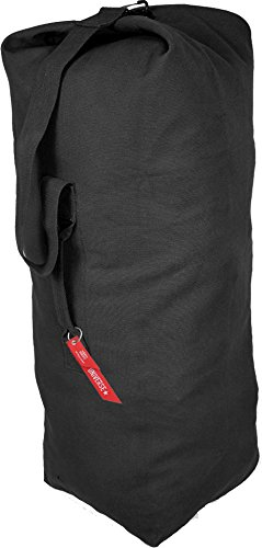 Black Giant Top Load Canvas Military Duffle Bag (30'' x 50'') by Army Universe (Image #1)
