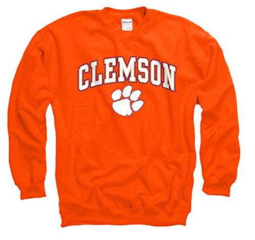 Campus Colors Clemson Tigers Adult Arch & Logo Gameday Crewneck Sweatshirt- Orange, XX-Large -
