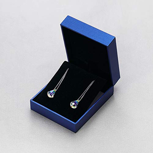 Sterling Silver Drop Dangle Earrings With Color Change Crystal From Swarovski Gift for Women
