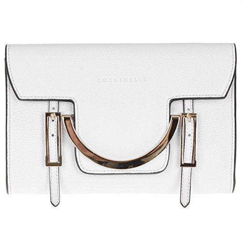 Coccinelle - Crossed Another Skin Bag For Women Bianco