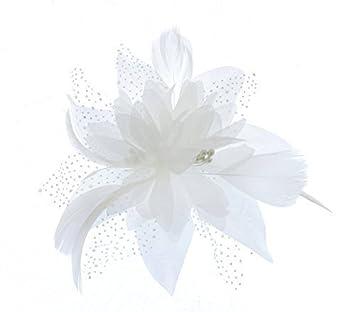 Pure White Star Flower fascinator comb for Weddings c543c893db9