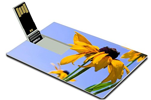 luxlady-32gb-usb-flash-drive-20-memory-stick-credit-card-size-blooming-yellow-flowers-rudbeckia-gree