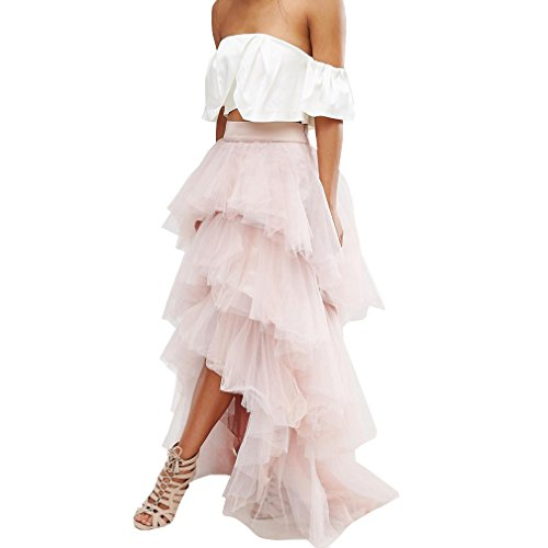 WDPL High Low Layered Tulle Bridal Bridesmaid Skirt Size ...