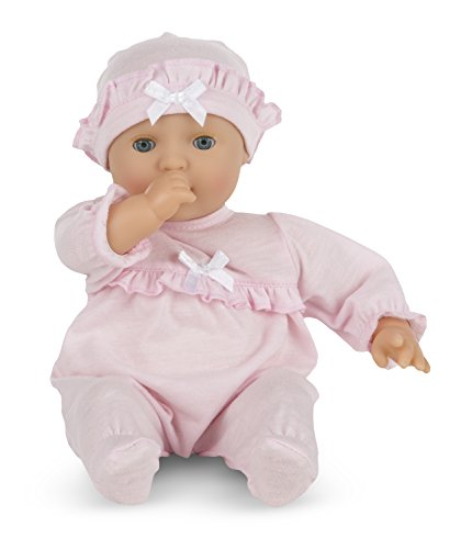 Melissa & Doug Mine to Love Jenna 12-Inch Soft Body Baby Doll With Romper and Hat (Halloween Costumes Music Theme)