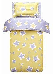 MEJU Yellow Stars 100% Cotton Duvet Cove...