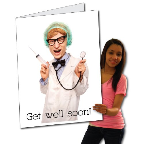 2'x3' Giant Get Well Card (Creepy Doc),  - Doc Envelope Shopping Results