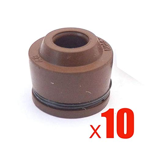 (Value-Home-Tools - 10pcs Motorcycle Engine Cylinder Valve Stem Oil Seals For GY6 50cc 125 150cc QMB139 157QMI 152QMI Scooter Moped)